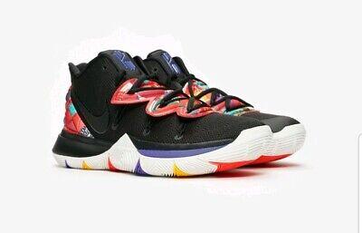 Nike Kyrie 5 CNY Basketball Shoe - Blk/Smt Wht/Multi AO2918-010 uk 12 Eur 47.5