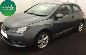 £124.31 PER MONTH GREY 2014 SEAT IBIZA 1.4 SC TOCA 3 DOOR PETROL MANUAL