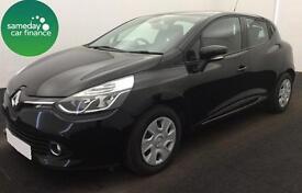 £165.72 PER MONTH BLACK 2013 RENAULT CLIO 1.5 DYNAMIQUE NAV DIESEL MANUAL