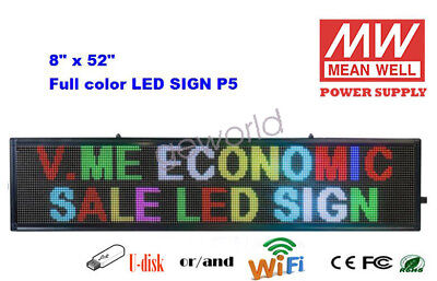 8x52 Led Sign 7 Color Programmable Scrolling Indoor Message Display Board P5