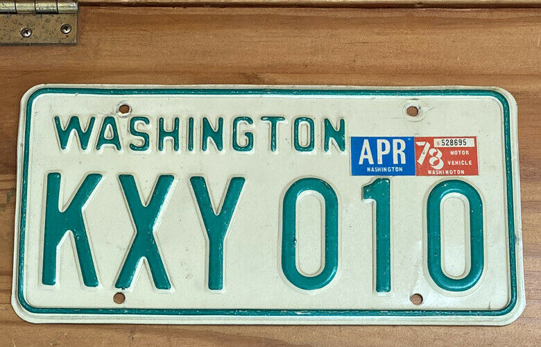 Nice Natural 1978 Washington Passenger Vehicle License Plate Single YOM Legal!