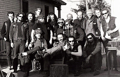 Hells Angels Motorcycle Gang Dale City California Group Meet 8.5x11 Photo