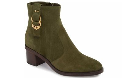 Tory Burch Marsden Olive Green Sport Suede Booties Boots 9 (See Online Reviews)
