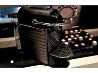 KRUPS PIXIE ELECTRIC TITANIUM XN 3005 Nespresso Machine plus 300 lids and empty pods!!!