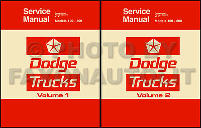 1975 1976 Dodge Pickup and Truck Repair Shop Manual D100-D800 W100-W300 Service