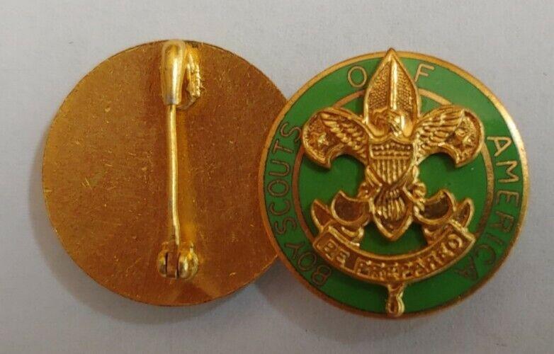 Rare 1930-40 BSA Boy Scouts of America gold Enamel Clutch Pin