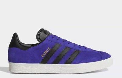 best cheap e028e d7f64 Adidas Originals Gazelle Mens Size 9 Sneakers PurpleBlack Suede NIB BZ0034