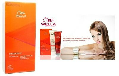100 ml. Wella Professional Wellastrate Hair Straightener Kit INTENSE N/R +Tracki