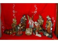 FONTANINI & FONTANINI STYLE LARGE NATIVITY SET OF 11 FIGURES. Collect Only.