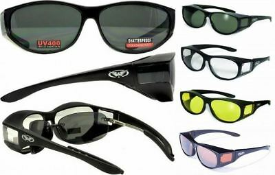 Escort Motorcycle Safety Sunglasses FIT OVER PRESCRIPTION RX GLASSES (Prescription Motorcycle Sunglasses For Men)