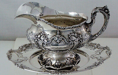 FRANCIS I by Reed & Barton Sterling Silver GRAVY BOAT With MATCHING UNDERPLATE