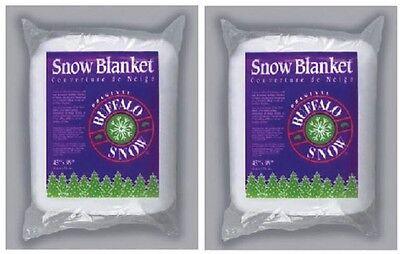 """(2) ea Buffalo Batt & Felt CK2916 45"""" x 99"""" White Polyester Snow Blanket  for sale  Westlake"""