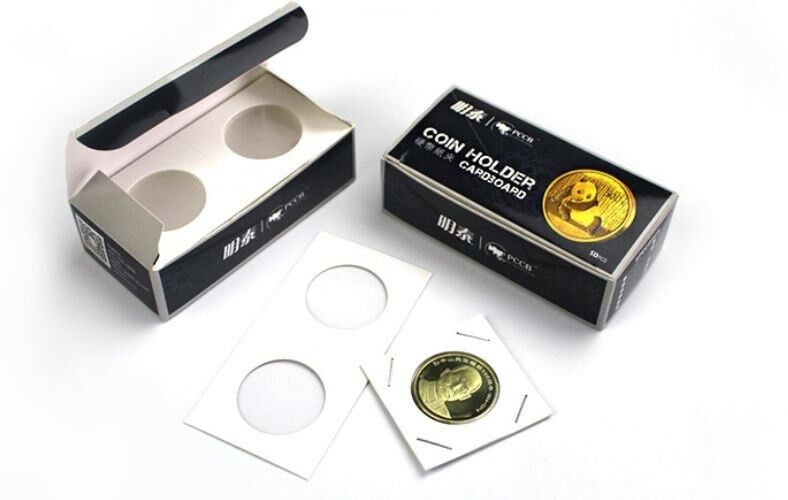 100 X Dollar size 2x2 cardboard mylar coin holder flip for SILVER DOLLARS 40 mm