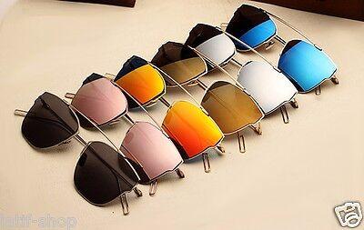 Damen Herren Sonnenbrillen Cat Eye Vintage Spiegel Retro Brille So Real Heiß