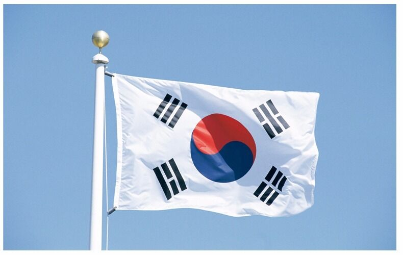 Large South Korea Flag Polyester the Korean National Banner 3x5ft Taegeukgi ROK