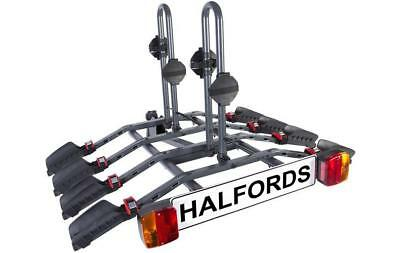 Halfords 4 Bike Tow Bar Cycle Carrier Bike Bicycle Car Rack Cycling Storage