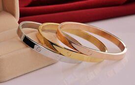 18KGP Gold Overlay Cuff Bracelets