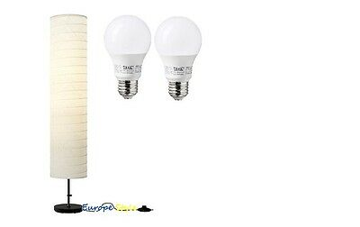 NEW IKEA HOLMO FLOOR LAMP SHADE RICE PAPER OR 2 PACK E26 400 LM LIGHT BULBS](Rice Paper Lamp)