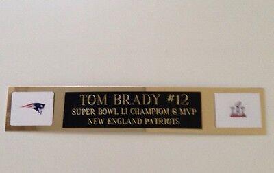 Tom Brady Li Super Bowl Mvp Engraved Nameplate