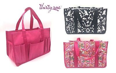 Thirty One Keep It Caddy Utility Mini Tote Bag 31 Gift Pink Paisley Black Pop