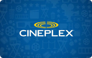 Cineplex General Admission Code $8 ea 2 for $15 10 for $65
