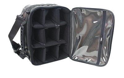 Black Fishing Reel Bag Case Storage safe waterproof pockets space cushion pad