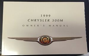 1999 Chrysler 300M Factory Owner's Manual - Brand NEW!