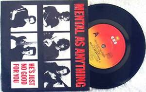 """Pop - Mental As Anything Hes Just No Good ... 7"""" Vinyl 1987"""