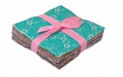 """102 Floral Trellis pre cut charm pack 5"""" squares 100% cotton fabric quilt pastel"""