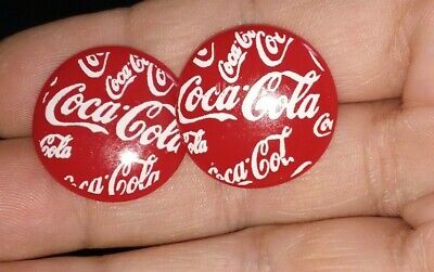 Cool Coca Cola Round Post Earrings