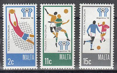 Malta Nr. Nr. 571-573** Fußball WM 1978 Argentinien