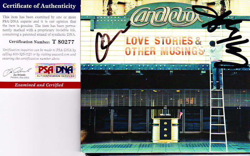 CANDLEBOX signed autographed CD Love Stories & Other Musings PSA DNA NEW Kevin