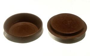 4 grandes marron caoutchouc castor cup protection sol glissement ebay. Black Bedroom Furniture Sets. Home Design Ideas