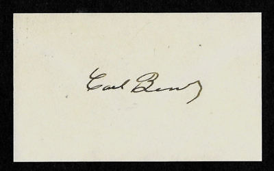 Karl Benz Mercedes Benz Pioneer Autograph Reprint On Old 3X5 Card