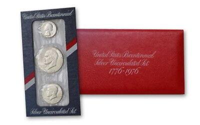 (1) 1976 United States Mint Bicentennial 40% Silver Coin 3 Piece Set
