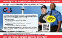 G4S SECURITY CAREER & SUMMER EVENTS HIRING! JOB FAIR DATES BELOW