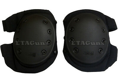 NEW CONDOR BLACK SWAT Paintball Airsoft Tactical Combat Knee Protection Pads KP2