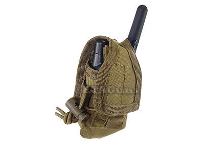 CONDOR Coyote TAN MOLLE Belt Carabiner HHR Radio Holster Pouch L/R Antenna MA56