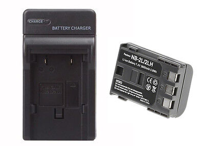 Canon E160814 Battery & Charger Set - 1800mAh Replacement Canon NB-2LH Battery