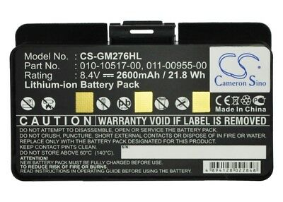 Battery for Garmin GPSMAP 276 276c 296 376 376C 378 495 378 478 495,010-10517-01