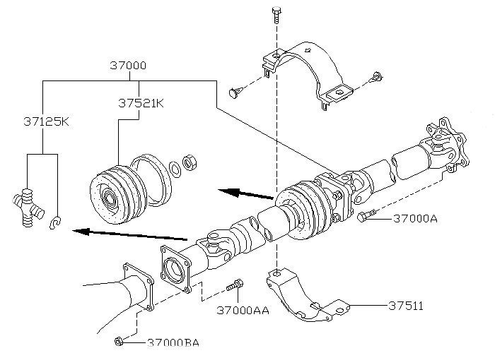 Drive Shaft Center Support Bearing For Nissan Pathfinder