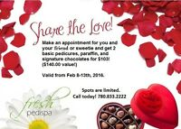 Fresh Pedi Spa Valentine's Special - This week only!