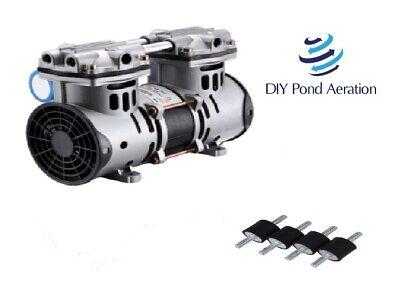 New Pond Lake Aeration Pump Compressor Replacement Fan Guards Mounts 3.3cfm