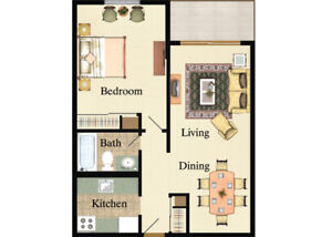1 bedroom apartment rent for 13 days