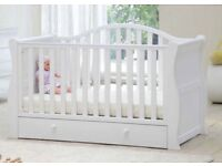 Cotbed Sleigh White