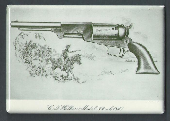 COLT WALKER MODEL .44 CALIBER 1847 *2X3 FRIDGE MAGNET* PISTOL REVOLVER GUN SAM