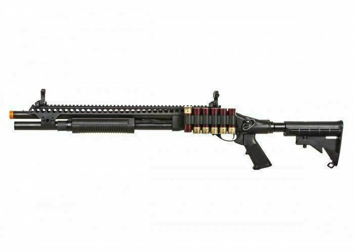 JAG Arms Scattergun SP Gas Powered LE Stock Tactical Airsoft Shotgun Toy Black