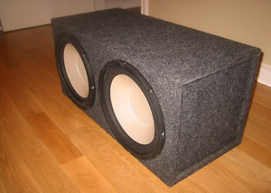 "2 12"" JBL subs in a custom box."