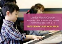 Junior Music Course for Ages 4-6 in Markham and Richmond Hill