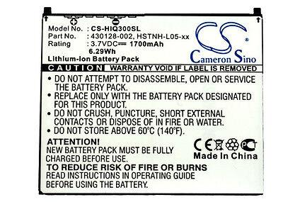 Battery for HP iPAQ 430128-002, HSTNH-S12B, HSTNH-F15C, HSTNH-L05-xx (1700mAh)
